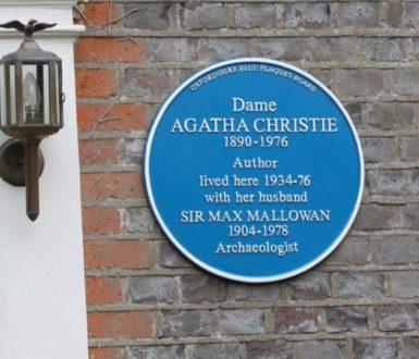 Blue Plaque Agatha Christie