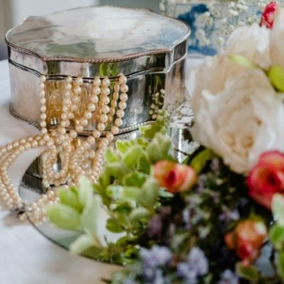 1930s Table Decor Wedding Beads Out Of Jewel Case